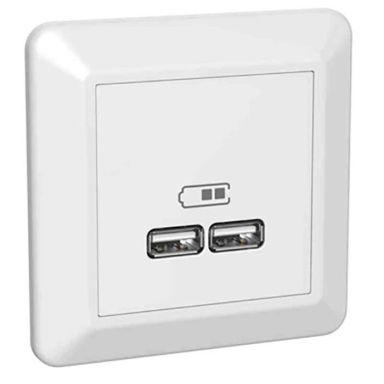 Elko RS Laddstation infälld, 2 USB