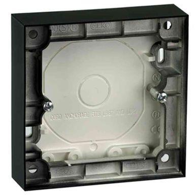 Elko Plus Förhöjningsram för strömbrytare, 1 fack, svart