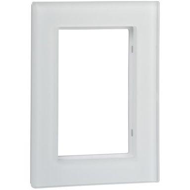 Schneider Exxact Solid Ram till 2-vägs vägguttag, glas, vit