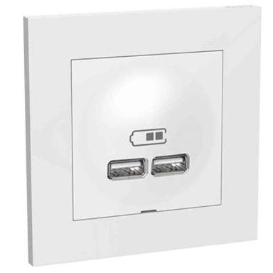Elko Plus Laddstation infälld, 2 USB