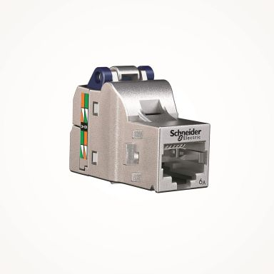 Schneider S-One DPM Kat 6A STP Modularjack Avskärmad