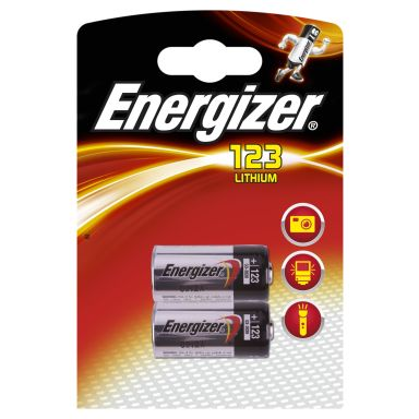 Energizer Photo 123 Fotobatteri litium, 3 V, 2-pack