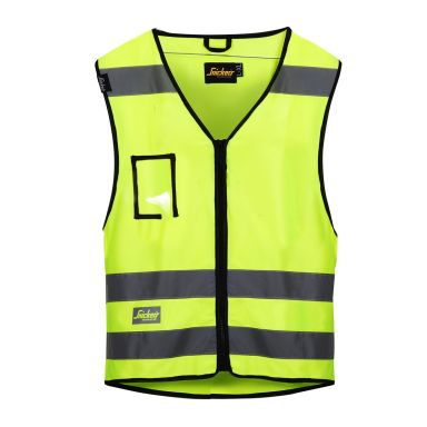 Snickers 9153 Vest varsel, gul