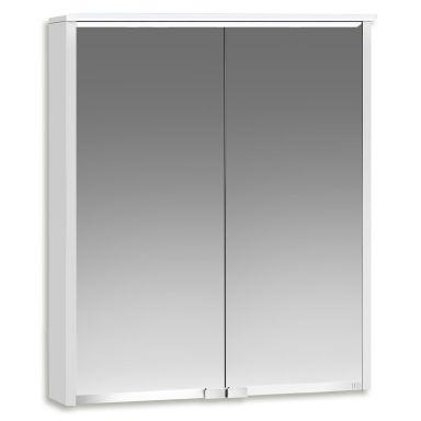 Ifö Option Bas 60 Badrumsskåp vit, med spegel och belysning
