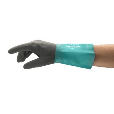 Ansell AlphaTec 58-530 W Handske Kemskydd, Nitril, med nylonfoder