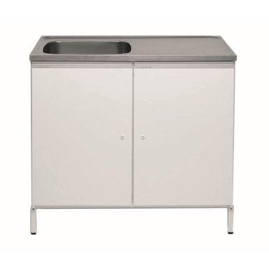Contura CABL 10 Tvättbänk vit, med 2 förvaringsskåp