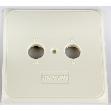 Macab 544150 Täcklock för standarduttag, 85 x 85 mm