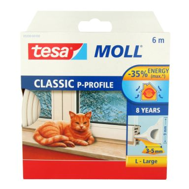 Tesa P-list 55703-00100-00 Tätningslist EPDM, 100 m, 9 mm x 5.5 mm