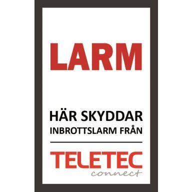Teletec Connect 111851 Larmskylt självhäftande