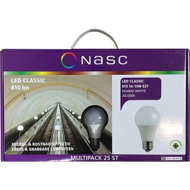 NASC Classic LED-lampa 10 W, 2700 K, 25-pack