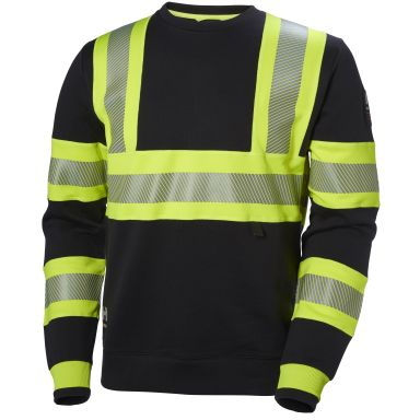 H/H Workwear ICU Sweatshirt varsel, svart/gul