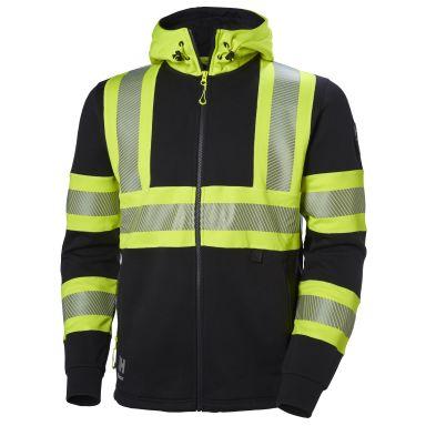 H/H Workwear ICU Luvtröja varsel, svart/gul