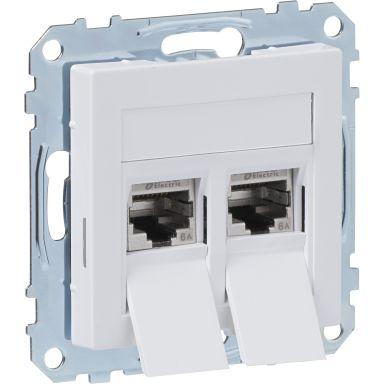 Schneider Exxact 2xC6A STP WDE002439 Modularuttag 2 kopplingar