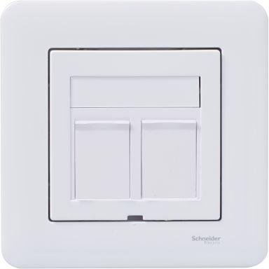 Schneider Exxact 2xC6 UTP WDE002424 Modularuttag 2 kopplingar