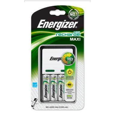 Energizer Recharge MAXI Batteriladdare 4 x AA, 2000 mAh
