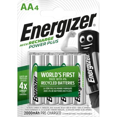 Energizer Recharge Power Plus Laddbart batteri 1,5 V, 4-pack, AA