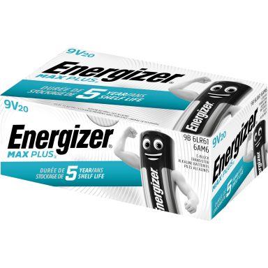 Energizer Max Plus Alkaliskt batteri 9 V, 20-pack