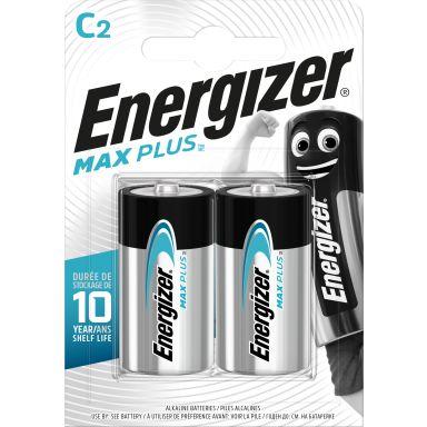 Energizer Max Plus Alkaliskt batteri C, 1,5 V, 2-pack