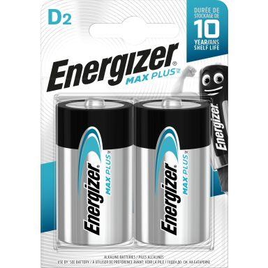Energizer Max Plus Alkaliskt batteri D, 1,5 V, 2-pack