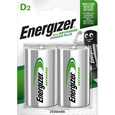 Energizer Recharge Power Plus Laddbart batteri 1,5 V, 2-pack