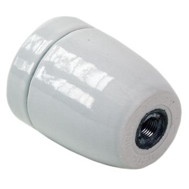 Gelia 4001026002 Lamphållare E27, slät, porslin