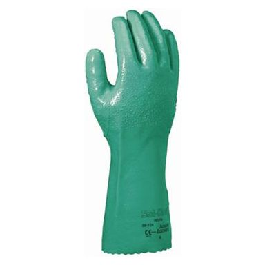 Ansell Solknit 39-124 Handske Kemskydd, Nitril, grön