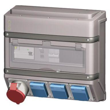 Garo 01102-JFB Uttagsbox med jordfelsbrytare