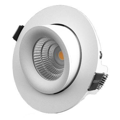 Designlight P-1604527 Downlight 7 W, vinklingsbar och ställbar, vit