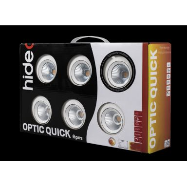 Hide-a-Lite Optic Quick Downlight vit, 6-pack
