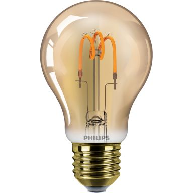 Philips Classic Spiral LED-lampa 2,3 W, guldfärgad