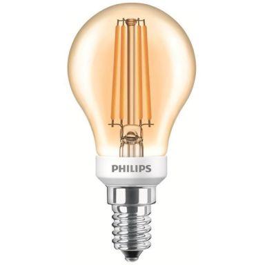 Philips Classic LED Filament LED-lampa klotform, guldfärgad