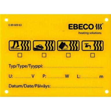 Ebeco 8960963 Skylt