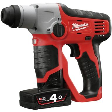 Milwaukee M12 H-402C Borrhammare med batterier och laddare