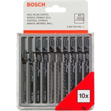 Bosch 2607010146 Plastic and Wood Sticksågsbladsats 10 delar