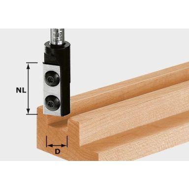 Festool HW S8 D10/25 WP Z1 Notfräs med vändskär, 8mm