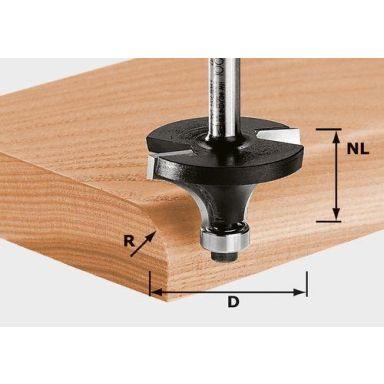 Festool HW S8 D16,7/R2 KL Avrundningsfräs 8mm spindel