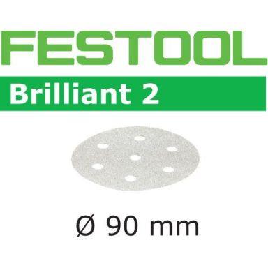 Festool STF BR2 Slippapper 90mm, 6-hålat, 100-pack