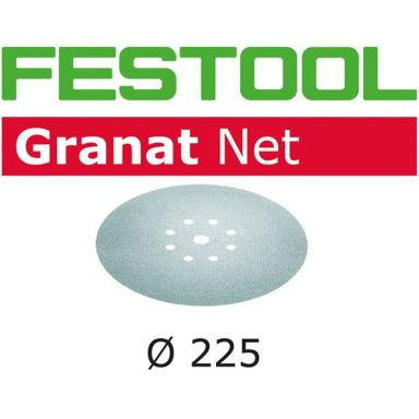 Festool STF D225 GR NET Nätslippapper 225mm, 8-hålat, 50-pack