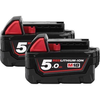 Milwaukee M18 B5 18V Li-Ion batteri 2-pack