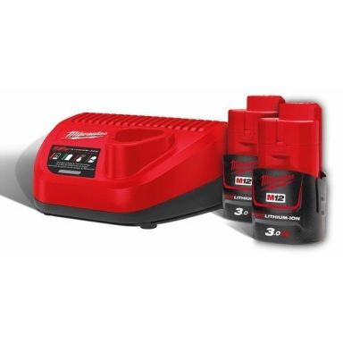 Milwaukee M12 NRG-302 Laddpaket