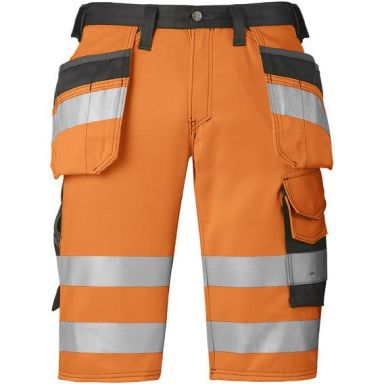 Snickers 3033 Shorts varsel, orange