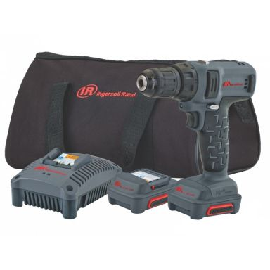 Ingersoll Rand D1130EU-K2 Borrmaskin med 2,0Ah batterier och laddare