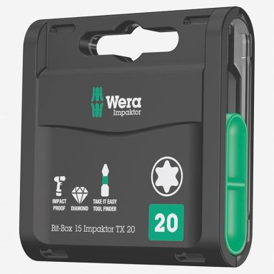 Wera Impaktor TX20 Bits 15-pakning