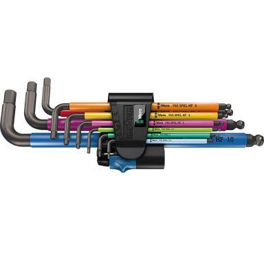 Wera 950/9 Multicolour HF Insexnyckelsats