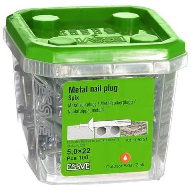 ESSVE Spix ZN Metallspikerplugg 100-pakning