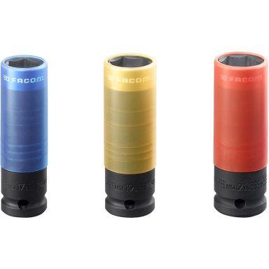 "Facom NSI.3L Krafthylssats 1/2"", 17/19/21mm"