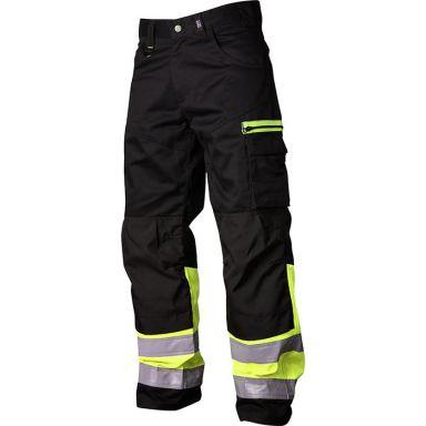 Vidar Workwear V500551C150 Vyötäröhousut musta/keltainen