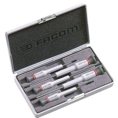 Facom AEFP.J1 Skrutrekkersett 5 deler Micro-Tech, 5 deler
