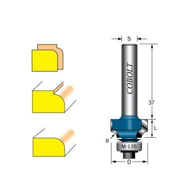 Cobolt 217-050 Avrundningsfräs R=5 D=23 L=10