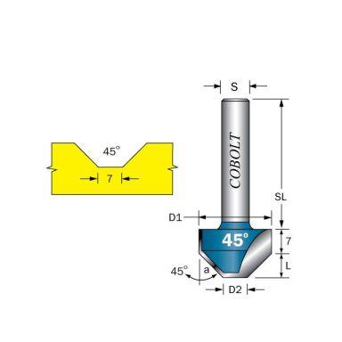Cobolt 209-450 Fasfräs D1=21 D2=7